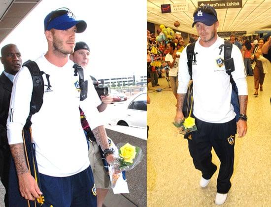 Photos of David Beckham Arriving In Washington, DC