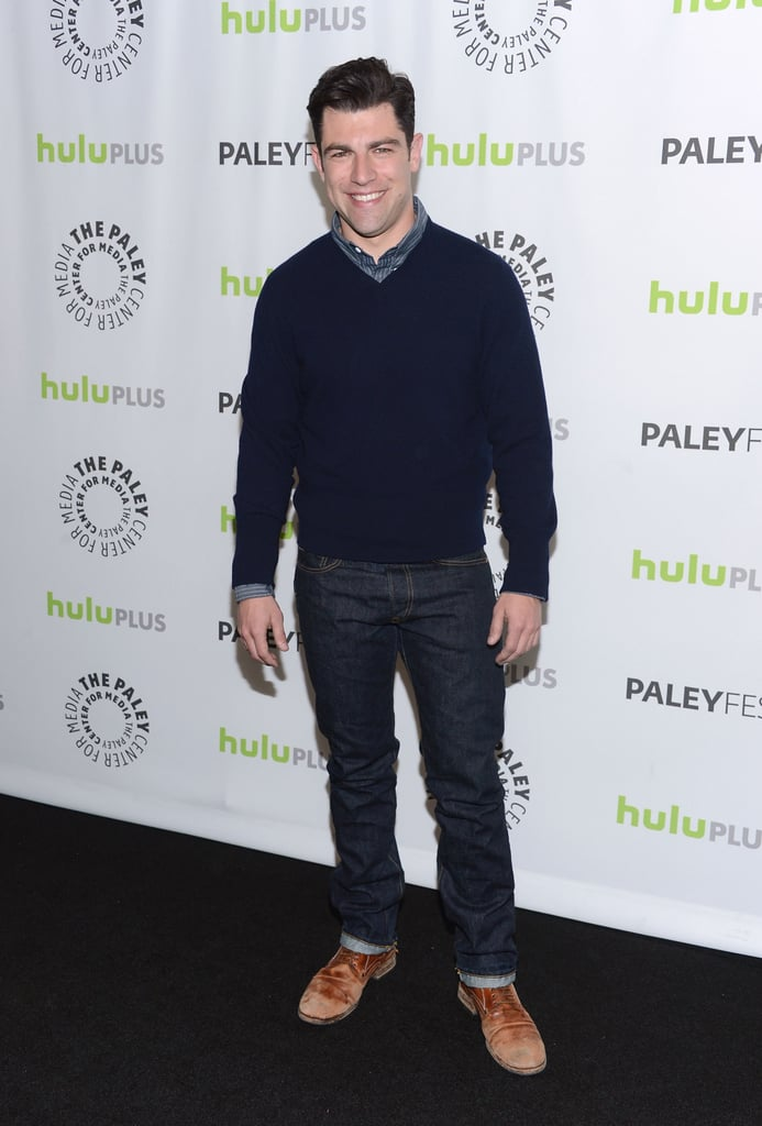 Max Greenfield looked handsome on the red carpet.
