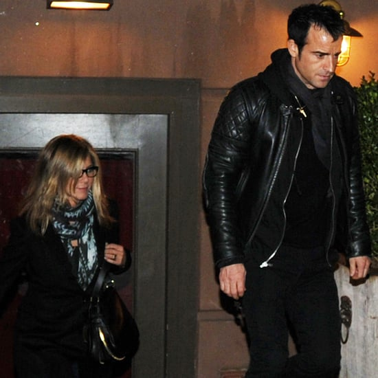 Jennifer Aniston Justin Theroux Pictures at Blue Hill in NYC