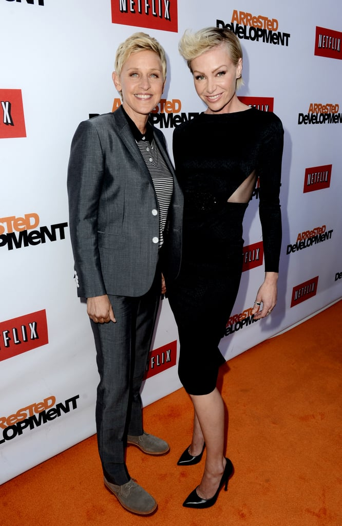Ellen showed support for Portia in April 2013 when she attended the premiere of Arrested Development.