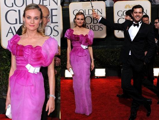 Diane Kruger And Joshua Jackson at The 2010 Golden Globes