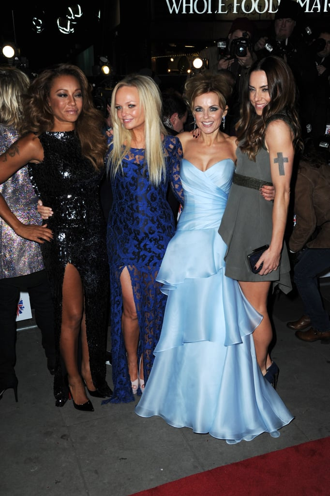 Melanie Brown, Geri Halliwell, Emma Bunton and Melanie Chisholm posed for photos.