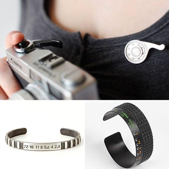 Camera Lens Bracelets and Jewelry