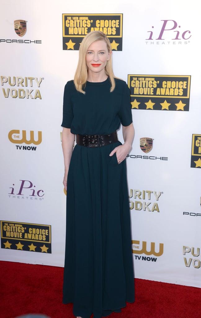 Cate Blanchett in Lanvin at the 2014 Critics' Choice Awards