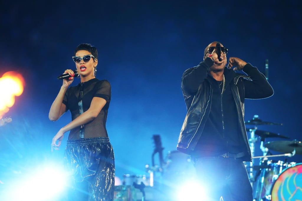 Rihanna and Jay-Z shared the stage in London.