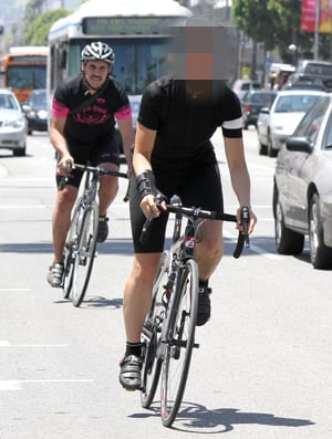 Guess Which Celeb Went Biking in Spandex?