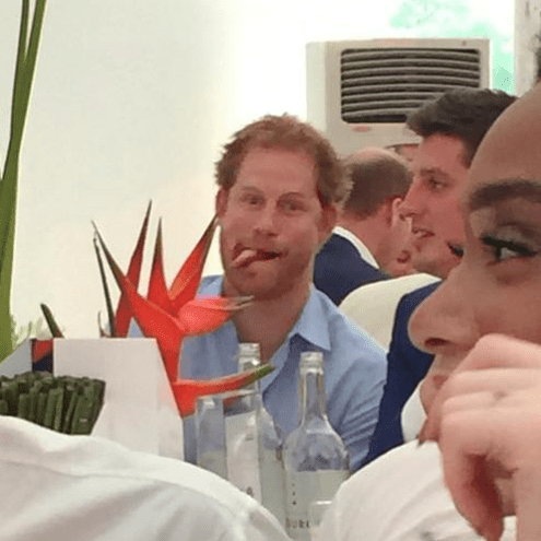 Prince Harry Photobombs Model Winnie Harlow's Picture
