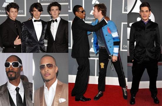 Photos of John Mayer, T.I., Chris Martin, Jay-Z, Will.i.am at the 2009 Grammy Awards