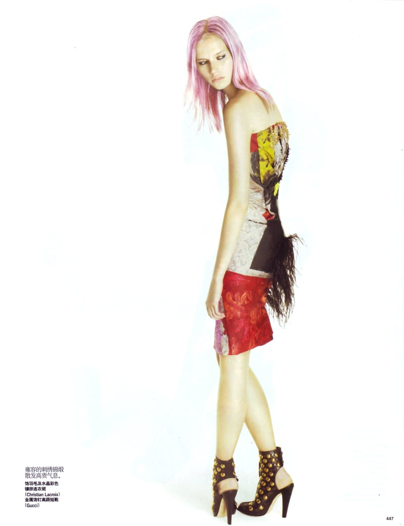 """Cato van Ee in """"Pretty in Punk,"""" Vogue China Sept. 2008"""