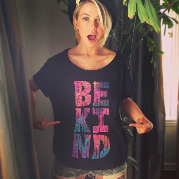 Julianne Hough promoted the Element 4 Kind campaign with her printed t-shirt. Source: Instagram user juleshough