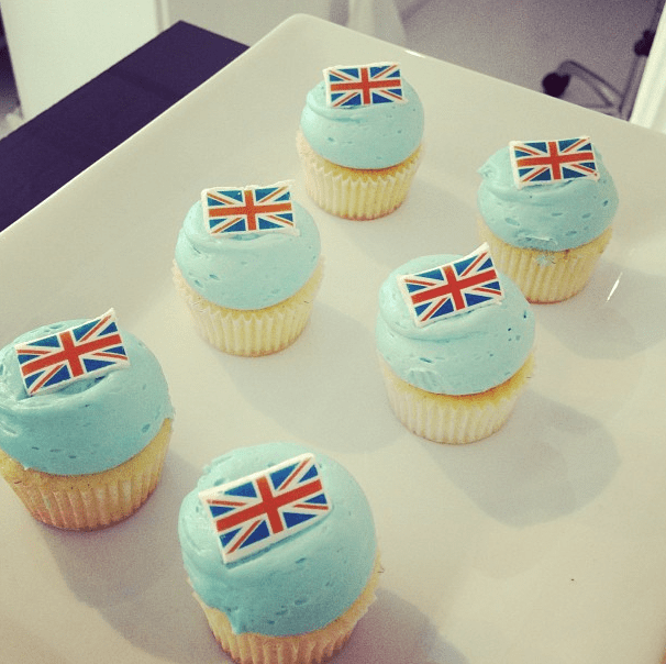 Is there a better way to celebrate Prince George than with some blue frosted cupcakes?