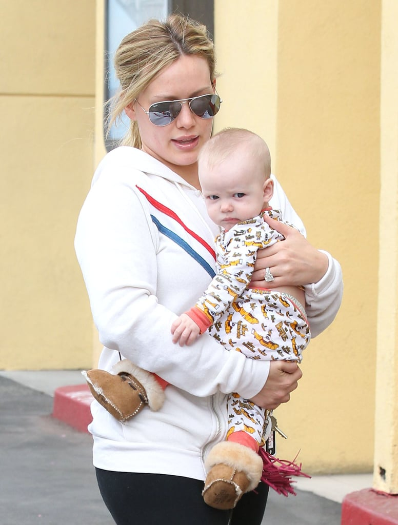Hilary Duff and her son, Luca Comrie, hit the shops in LA together.