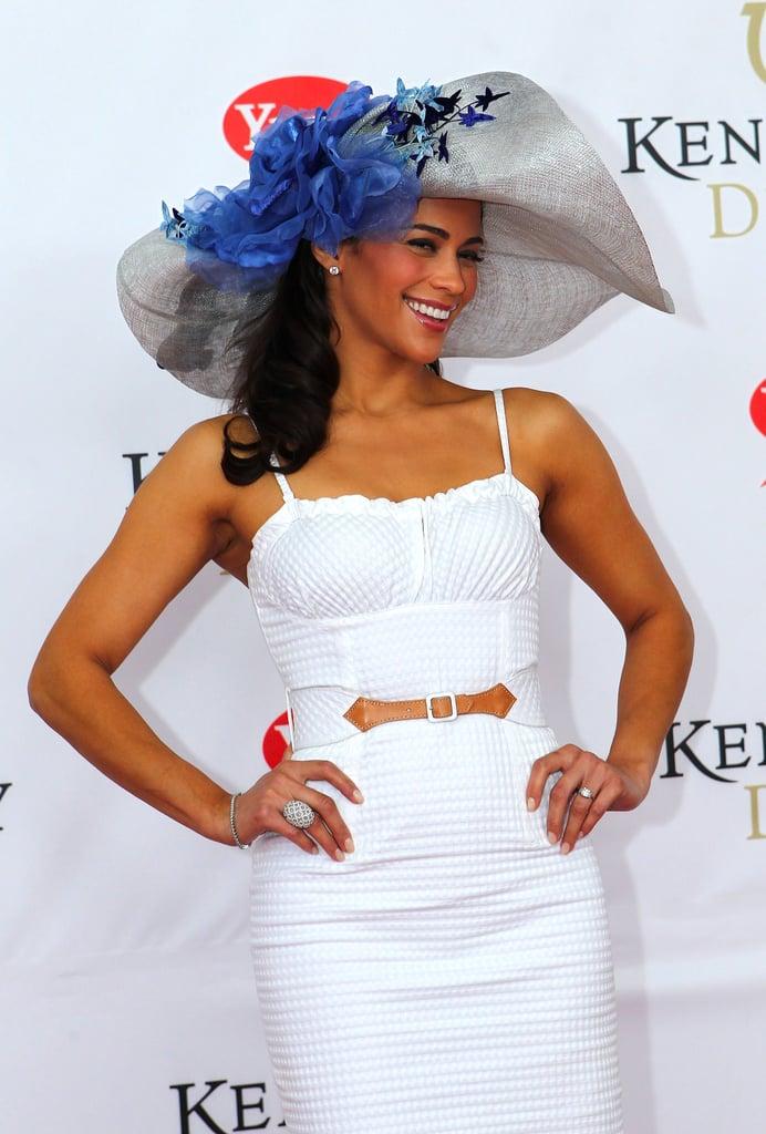 Paula Patton followed the big hat trend in 2011.