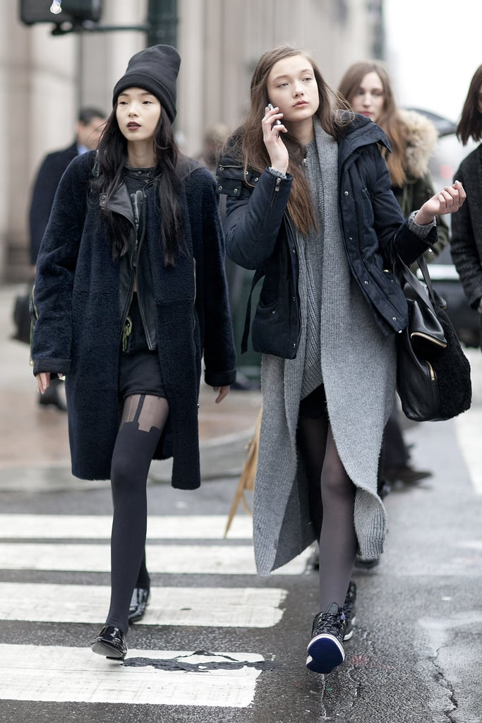 Gray and black palettes that played right into the Winter atmosphere.