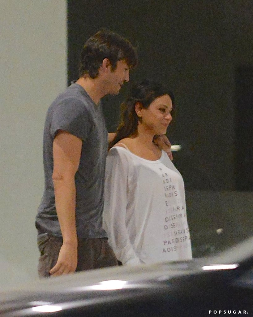 Aww! Parents-to-Be Mila and Ashton Kiss on a Romantic Date Night