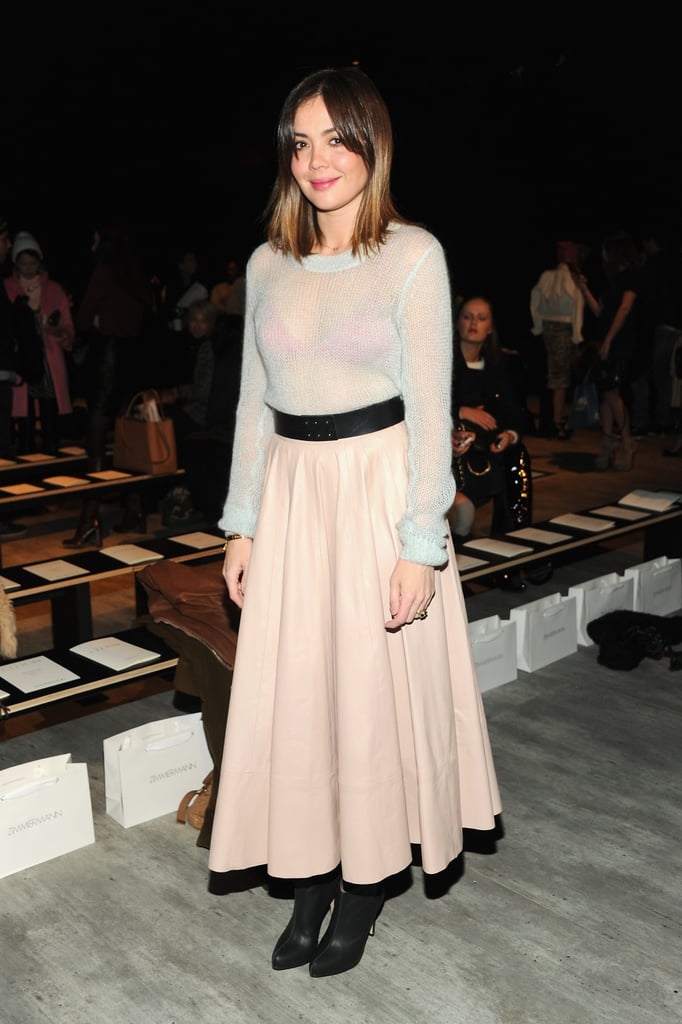 Australian actress Emma Lung went full femme at the Zimmermann show over the weekend.