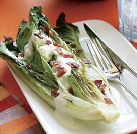 Camping Gone Gourmet Side: Grilled Lettuce