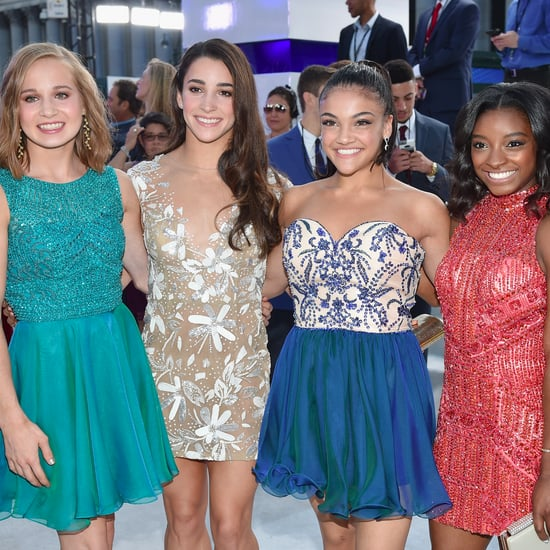 Simone Biles and Aly Raisman at 2016 MTV Video Music Awards