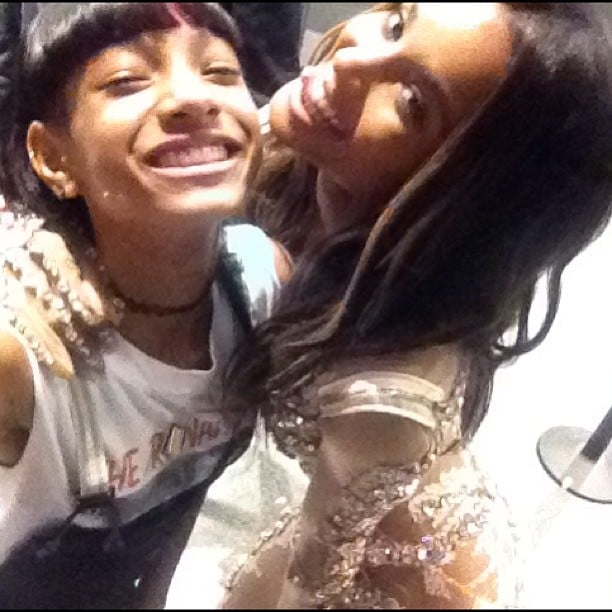 Ciara posed with Willow Smith backstage. Source: Instagram user ciara