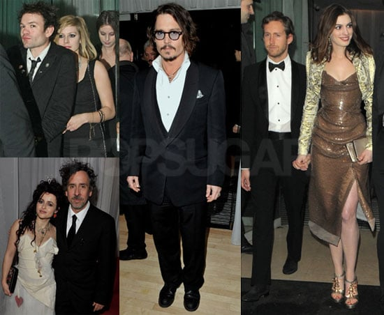Photos of Johnny Depp and Anne Hathaway at the Alice in Wonderland Afterparty With Avril Lavigne and Deryck Whibley 2010-02-26 11:00:00