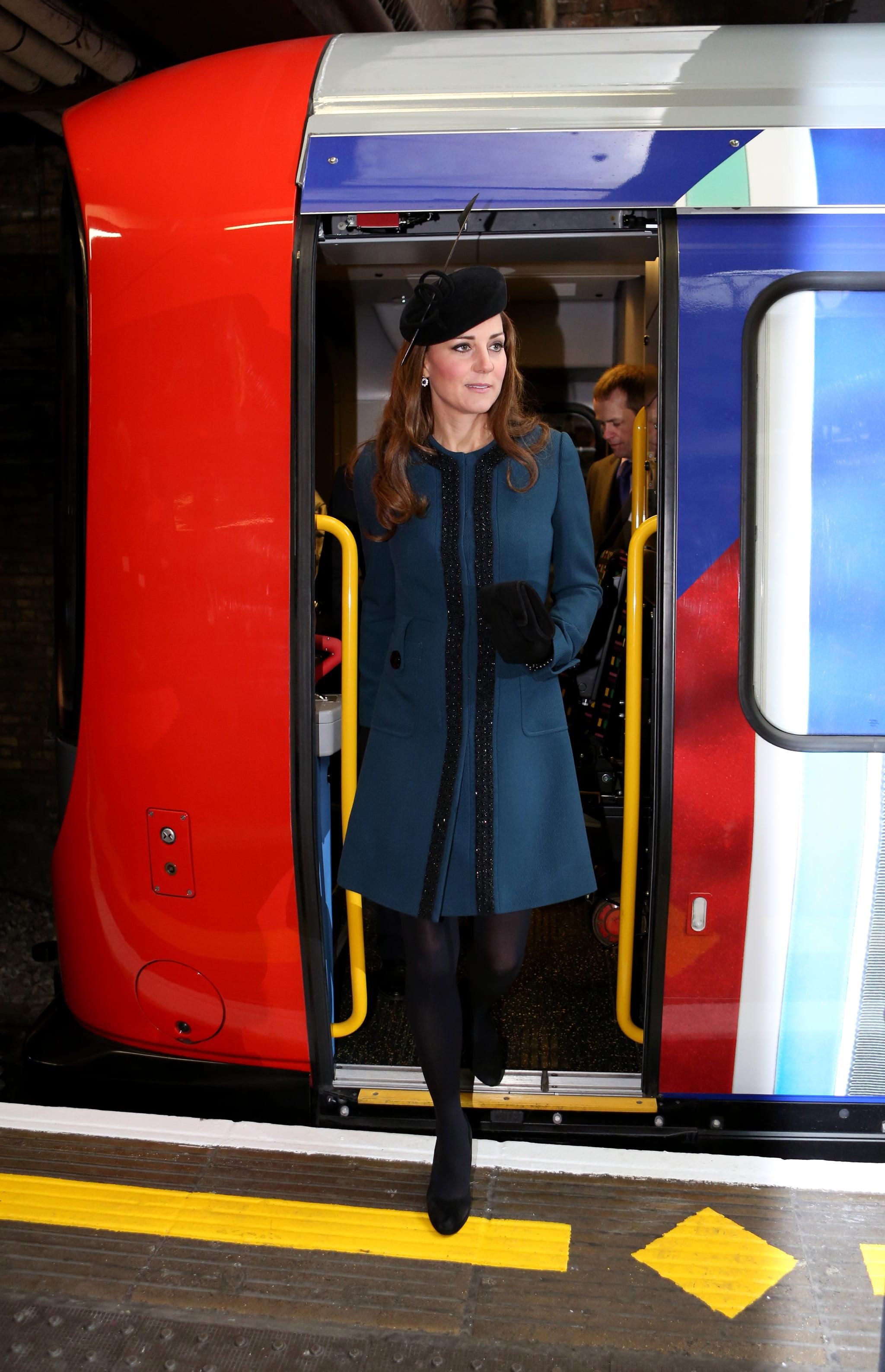 Kate Middleton at the Baker Street Underground Station in 2013