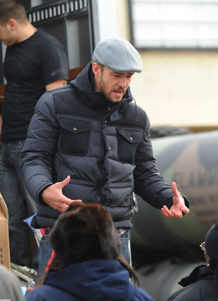 Justin Timberlake helped out in the Rockaways.