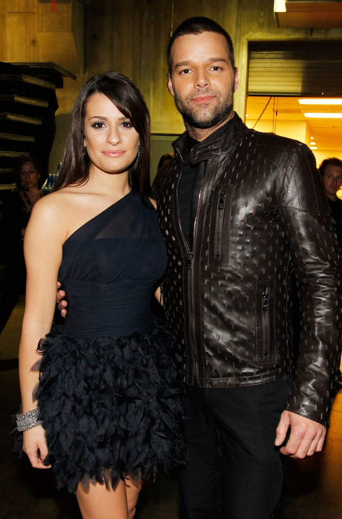 Lea hung backstage with Ricky Martin at the Grammys in LA back in January 2010.
