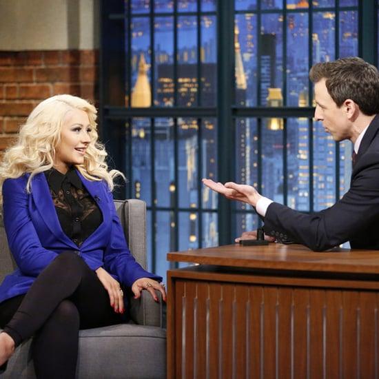Christina Aguilera Impressions on Seth Meyers Show