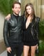 Derek Blasberg and Kasia Struss coordinated their ensembles at the Balmain afterparty.