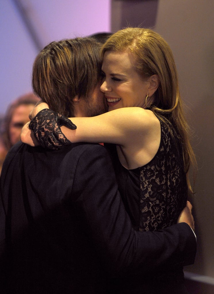 Keith and Nicole shared a hug at the 2010 People's Choice Awards in LA.