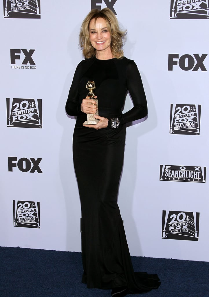 Jessica Lange posed at the Fox after party.
