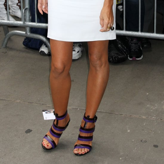 Celebrities Wearing Bottega Veneta Striped Sandals