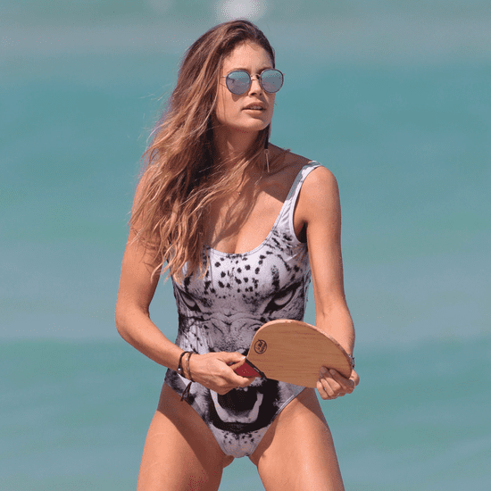 Doutzen Kroes Wearing a Swimsuit on the Beach in Miami