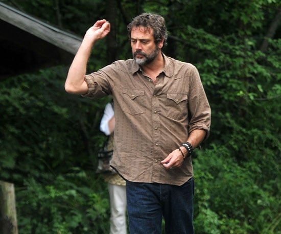 Slide Picture of Jeffrey Dean Morgan Filming Peace, Love & Misunderstanding in New York