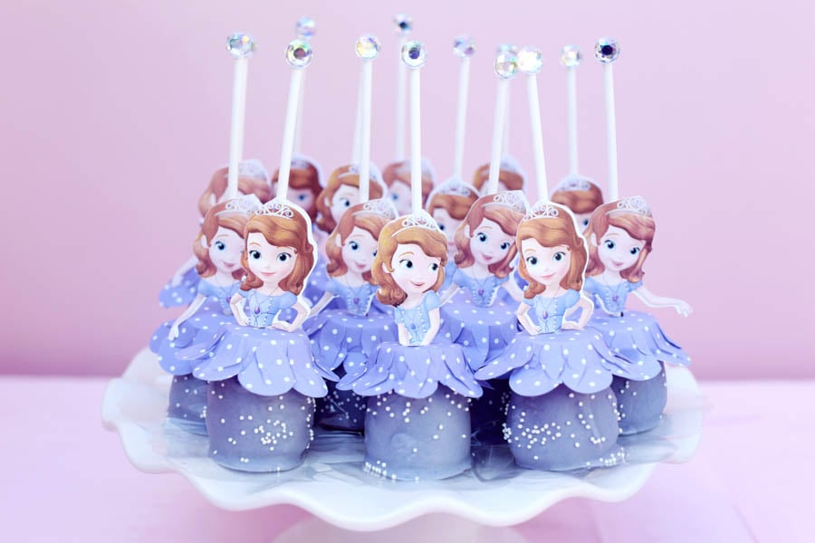 Princess Sofia Cake Pops