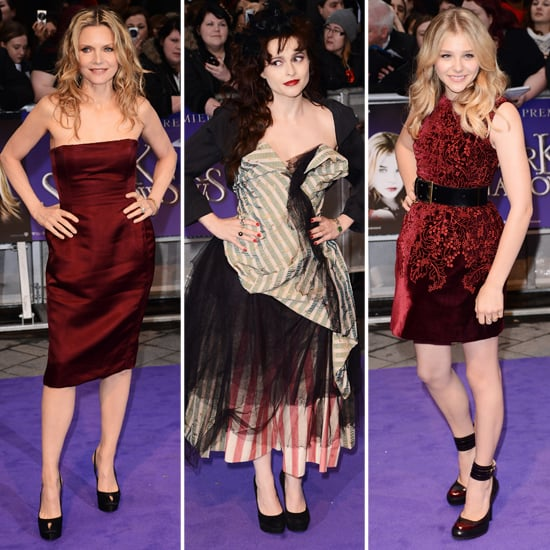 Celebrities on Dark Shadows UK Premiere Red Carpet