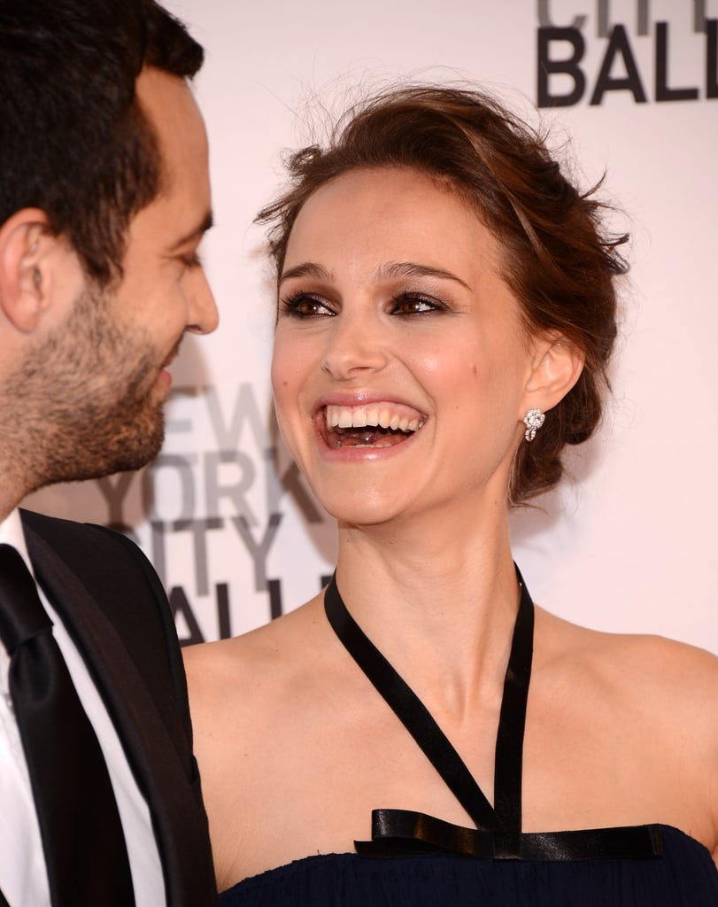 Natalie Portman laughed with Benjamin Millepied at New York City Ballet's 2012 Spring Gala.