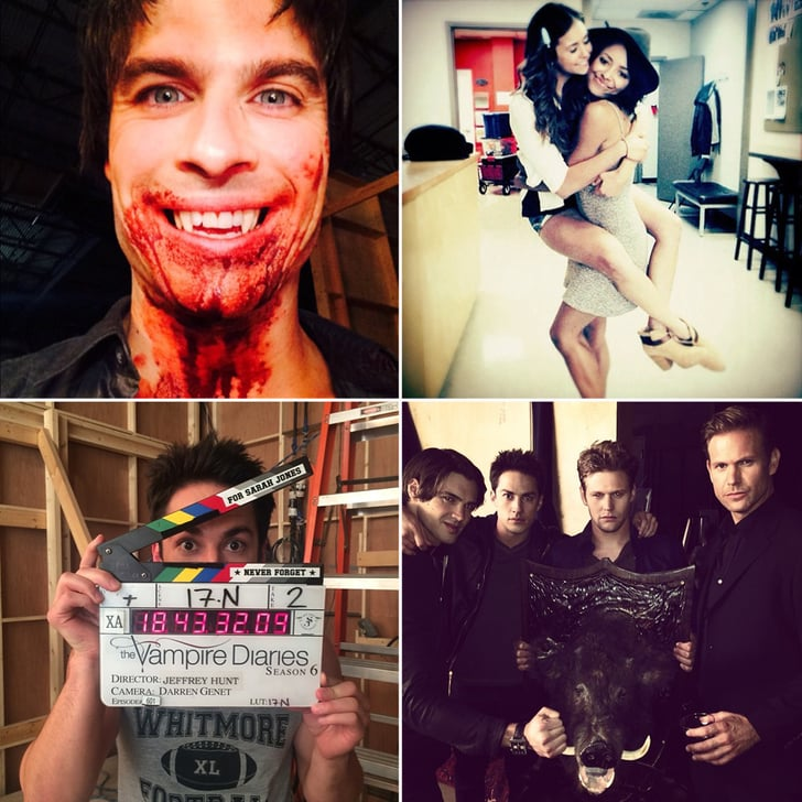 The Vampire Diaries Cast Gets Bloody in These Season 6 Set Pictures