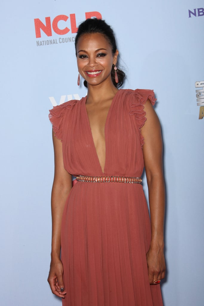 Zoe Saldana smiled at the ALMA Awards.
