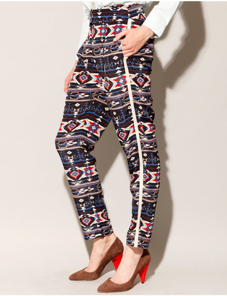Ladies who have already mastered printed denim can take the next step. This bold pair from Pixie Market ($62) is not for the faint of fashion-heart.