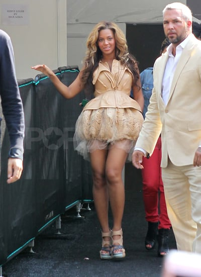 Beyonce in Short Dress at Rodarte Fashion Week Pictures