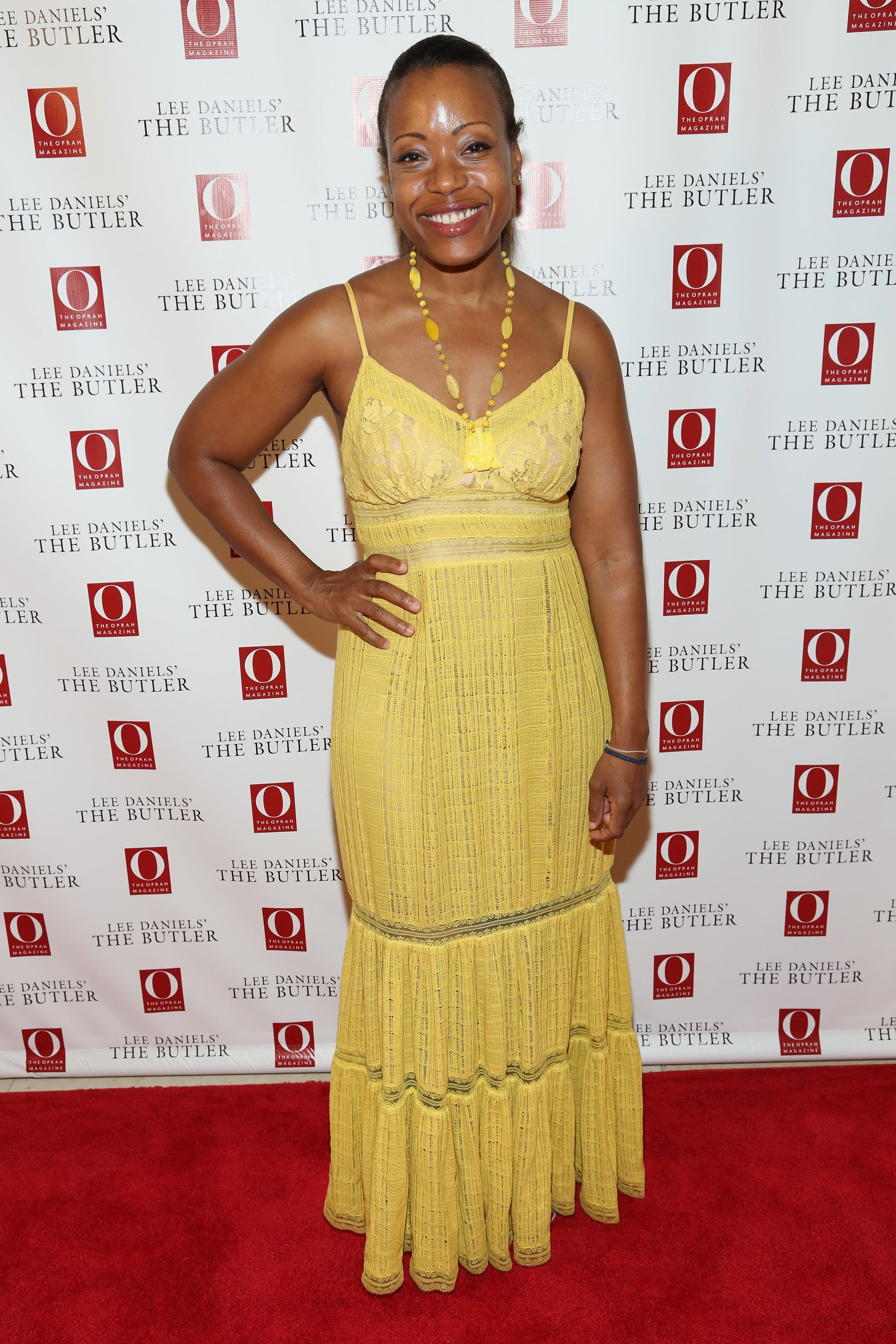 Tracy Reese screened The Butler in coordinating yellow designs.