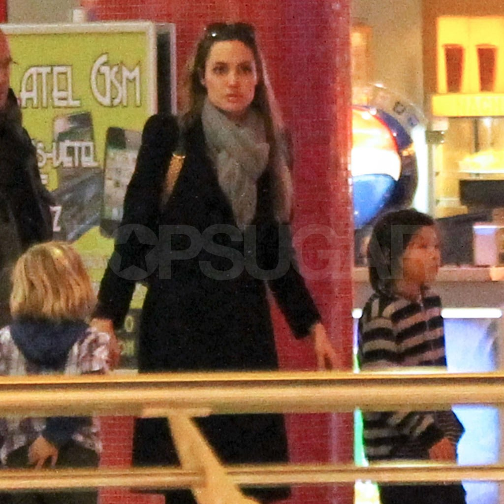 Angelina Jolie with Pax and Shiloh in Hungary.