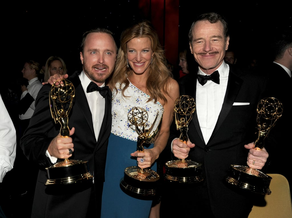 Breaking Bad's Aaron Paul, Anna Gunn, and Bryan Cranston had a blast celebrating their wins at the Governors Ball.