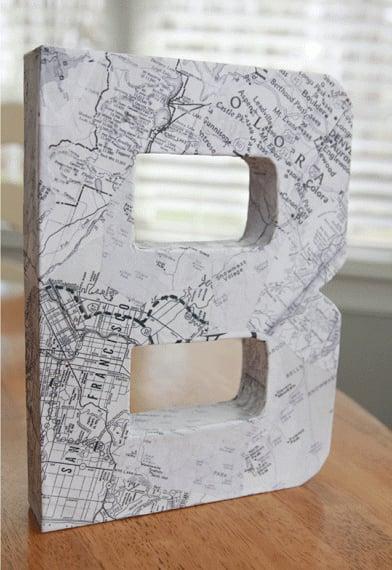 Paper Mache Monogram