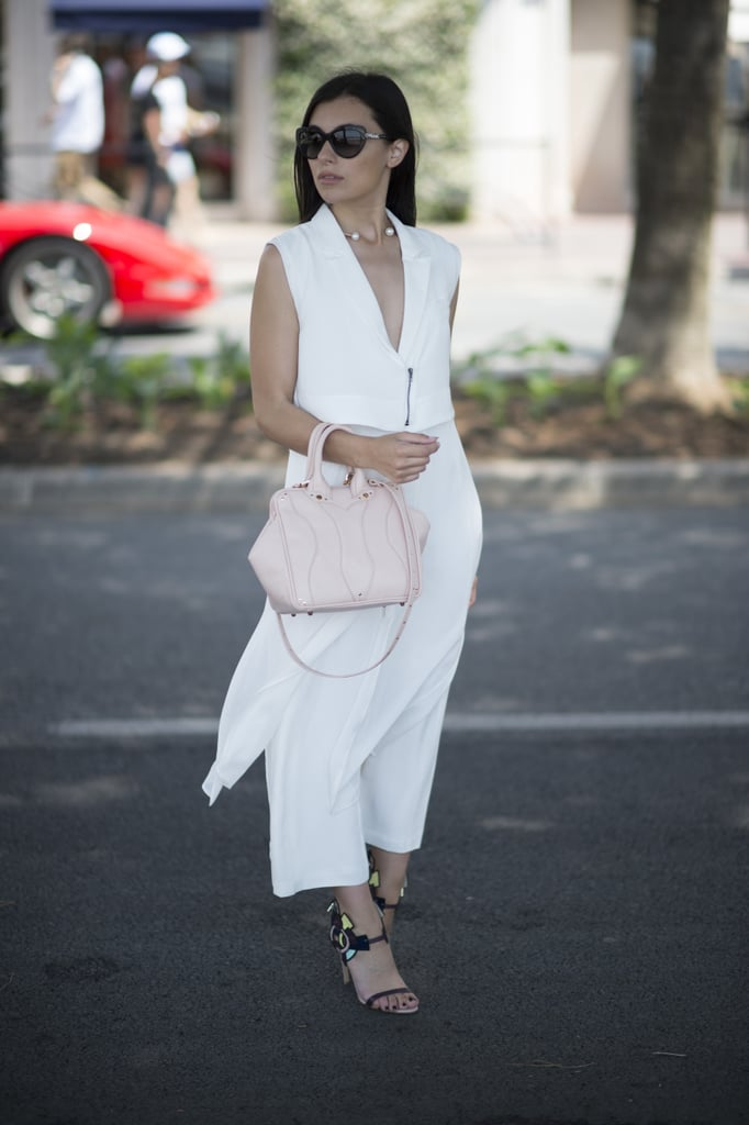 Head to toe white is the way to go once the temperatures start to rise.