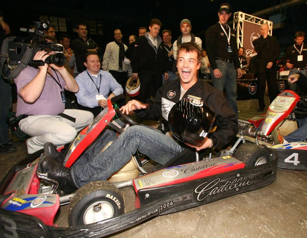 Josh Duhamel posed in a go-kart in 2006.