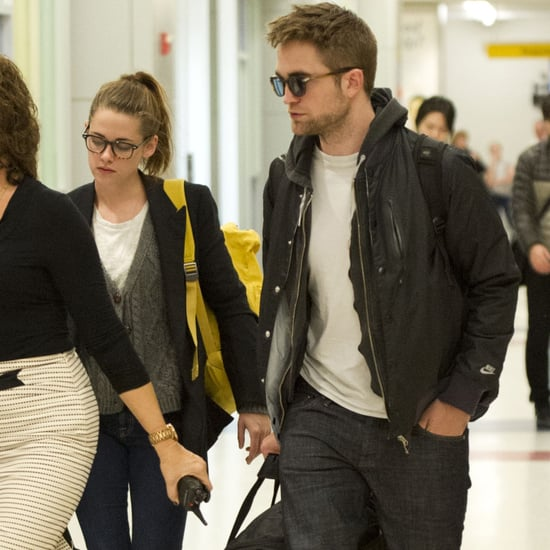 Robert Pattinson and Kristen Stewart at a NYC Airport