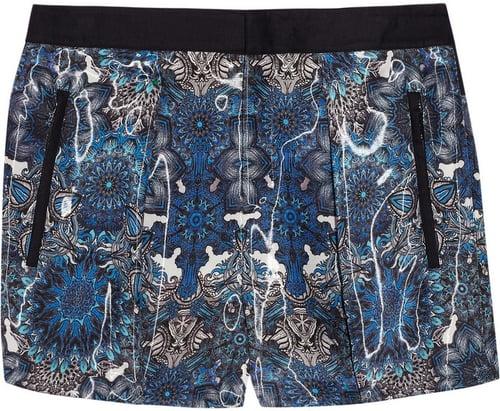 Helmut Lang Printed organza shorts