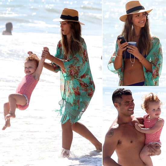 Jessica Alba Makes a Splash With Cash and the Girls
